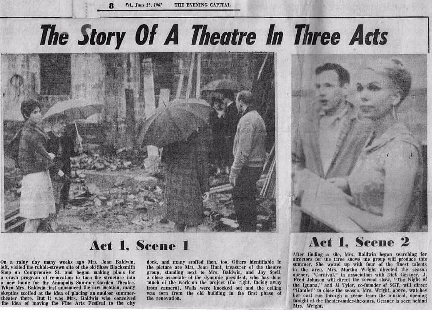 1967 June Capital Article Theatre Renovation