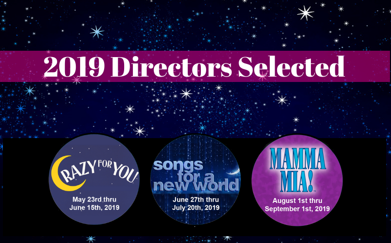 Directors for Season 2019 Annapolis Summer Garden Theatre Jason Harding Beall Jennifer Cooper Crazy For You Mamma Mia! Songs for a New World