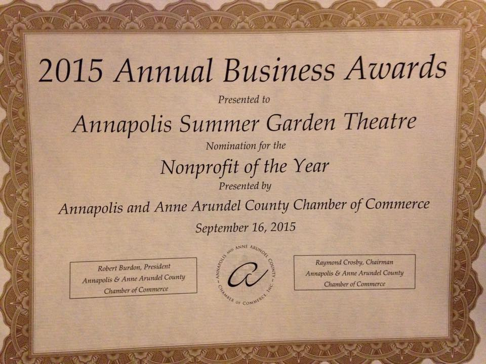 AAACCC Business Award Certificate