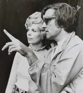 """Roland Chambers, director, chats with Martha Wright, a leading performer in 1972's """"Destry Rides Again"""""""