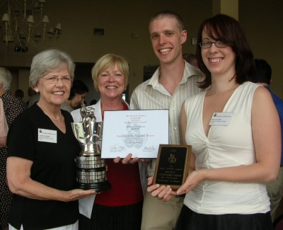 ASGT accepts the 2007 Ruby Griffith Award