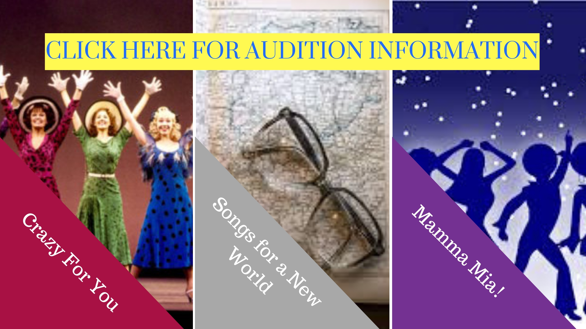 Auditions for Annapolis Summer Garden Theatre Crazy for You Songs for a New World Mamma Mia! Musical Theater