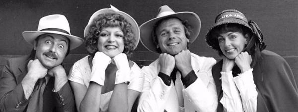 "1980's ""Guys and Dolls"" featured John Sposato, Debbie Barber, Roger Compton, and Sue Centurelli"